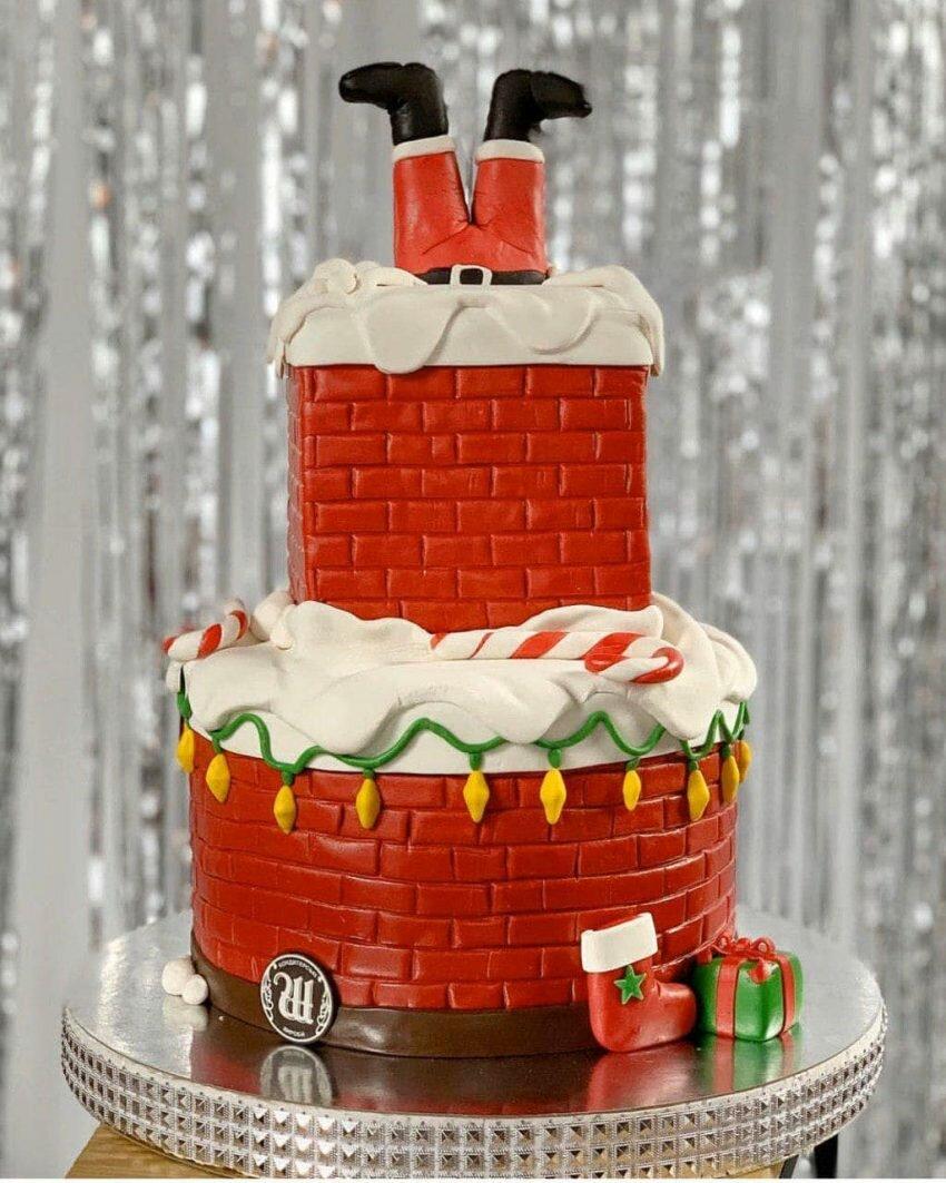 На фотографии новогодний торт, производителя кондитерских изделий на заказ Шарлотка.